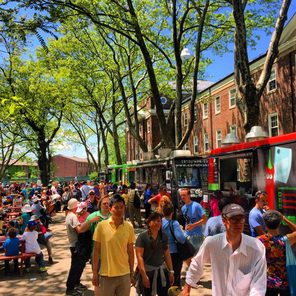 Food trucks on Governors Island. (Credit: The Live Fast Group)