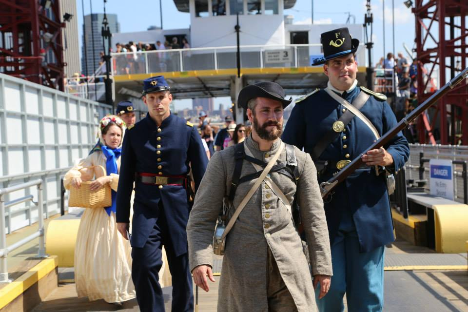 The Liberty Rifles  arrive for Civil War Weekend on Governors Island (Photo: U.S. National Park Service)